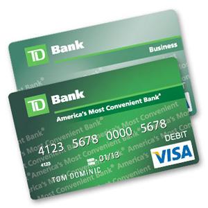 td bank debit card visa